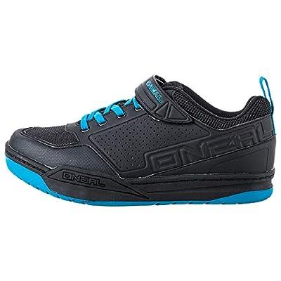 O'NEAL   Mountainbike-Schuhe   MTB Downhill Freeride   Vegan   SPD-Pedalplatten-kompatibel, haltbares und leichtes PU, Belüftungsöffnungen   Flow SPD Shoe   Erwachsene   Schwarz Blau   Größe 38