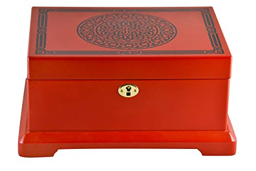 Le Grande Jewelry Box   Unique, High End Antique Wooden Jewelry Case/ Holder/ Organizer Impeccable Traditional Vintage Design  Ideal Jewelry Storage Container