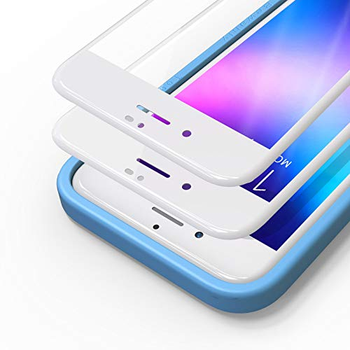 Bewahly Cristal Templado para iPhone 7/8/SE 2020 [2 Piezas], 3D Completa Cobertura Protector Pantalla con Marco de Instalación Fácil, 9H Alta Definicion Vidrio Templado para iPhone 7/8/SE 2 (Blanco)