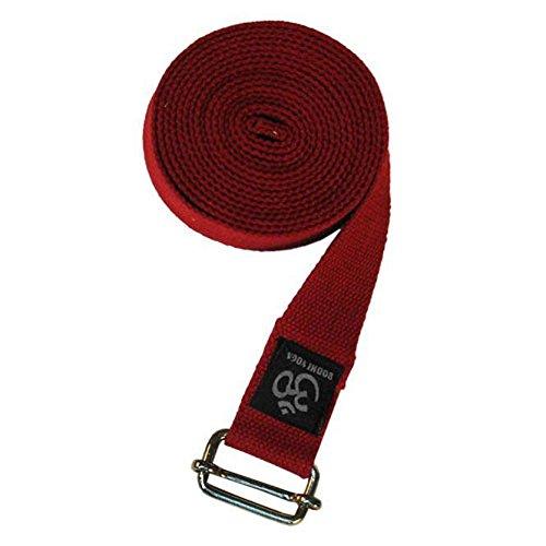 ASANA BELT PRO Yogagurt mit Metall-Verschluss, Schiebe-Schnalle eckig, langer Gurt aus Baumwolle, Yoga Hilfsmittel, 3 m x 38 mm, Yogazubehör