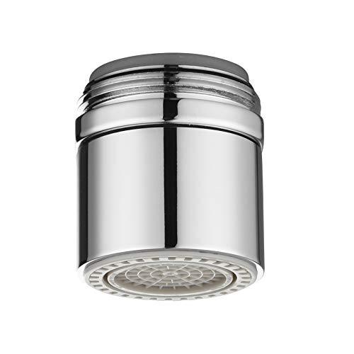 Ciencia latón doble función–Aireador de agua grifo, ahorrador de agua flujo bajo–Aireador para grifo de cocina, grifos de cuarto de baño, plateado