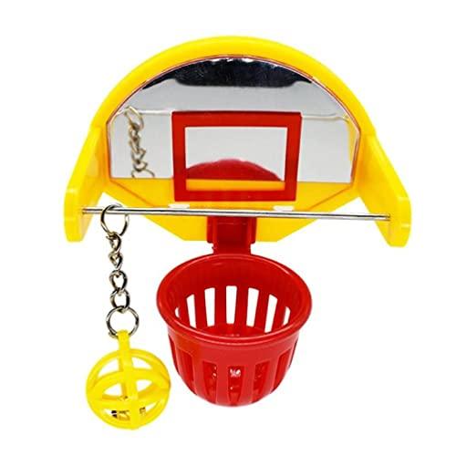 Mini Basketball Hoop Props Funny Parrot Birds Toys Pet Supplies Parakeet Bell Ball Chew Toy Parrot Toys for Medium Birds