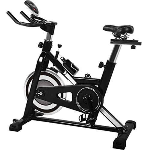 HLEZ Profi Indoor Cycling Bike, Ergometer Heimtrainer Profi Heimtrainer Fahrrad für Zuhause bis 200 kg belastbar Max. Benutzer 200 kg,Schwarz