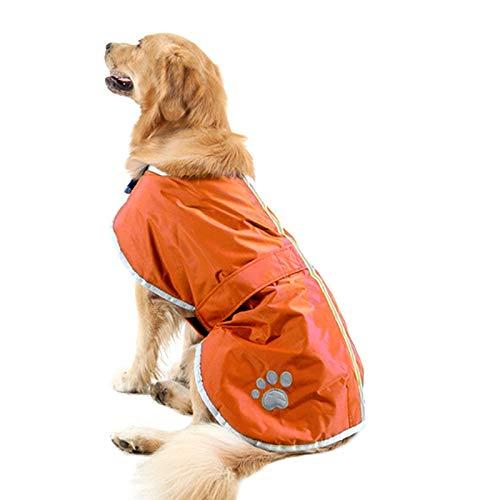 YangJinShan Neu-und Winter-Stil Golden Retriever Labrador Haustier-Mantel mit reflektierendem Trägern und Hundekleidung, Größe: XL, Fehlschlag: 76-84cm, Hals: 47-52cm (Color : Orange)