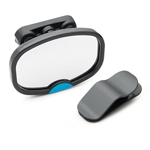 Brica by Munchkin Espejo de coche Dual Sight, para niños que viajan orientados hacia atrás o hacia delante