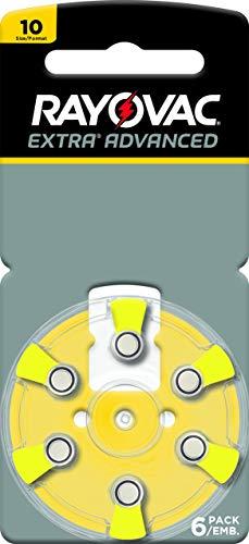 Rayovac Extra Advanced, size 10 Hearing Aid Battery (pack 60 pcs)