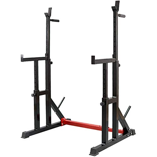 PLAYH Home Gym Fitness Stand DeviceSquat Rack Stand Ajustable Barbell Rack Multifunción Squat Weight Lifting Bank Rack MAX. Carga 300 KG