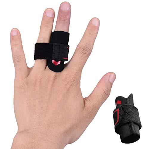 VerteLife Fingerschiene Finger Sleeves Mit Verstellbarer Klettverschluss, Fingerschützer Fingerschutz Unterstützung Finger Ärmel Gelenkschmerzen Lindern Fingerbandagen für Sport Volleyball Basketball