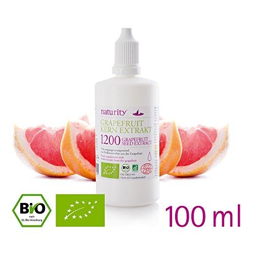 BIO Grapefruit Kern Extrakt, 1200 mg Bioflavonoide, 100 ml - hergestellt in Deutschland -bio & vegan, laborgeprüft! Top Preis-Leistungsverhältnis