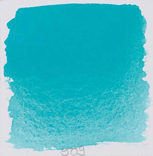 Schmincke 14509044 Watercolor Pans, Cobalt Turquoise, Half Pan