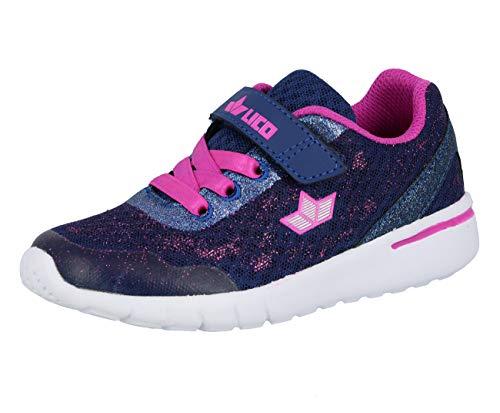 Lico Unisex - Kinder Sneaker Rubina VS,Low-Top Sneaker,lose Einlage, Halbschuh sportschuh Klettschuh Klett-Verschluss,lila/pink,33 EU