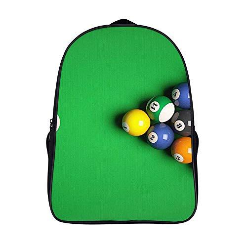 Xiahail Stilvolle Schultasche für Mädchen und Jungen, Reisetasche, für Studenten, Tagesrucksack, langlebig, multifunktional, Freizeit-Booker-Tisch, Snooker, Ball Pub