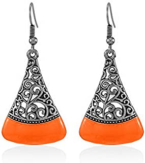 bcabf9409 YouBella Jewellery Silver Plated Oxidised Fancy Party Wear Earrings for  Girls and Women