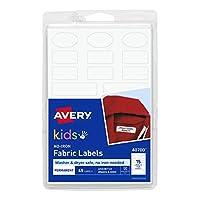 Avery No-iron Kids Clothing Labels, Washer & Dryer Safe, Writable Fabric