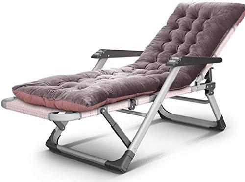 ADHW Silla de respaldo tumbona exterior silla silla pesada al aire libre funda funda de cojín respaldo mecedora móvil playa sol