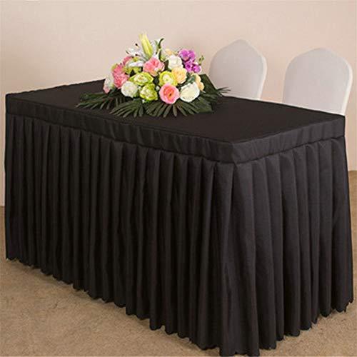 Wařm Tischdecke Weiß/Schwarz/Rosa Hotel Konferenztisch Rock Polyester Hochzeitsbankett Tabelle Abdeckung Hause Tischdecke Schwarz 140x45+75CM