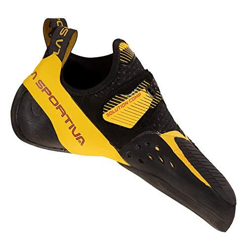 LA SPORTIVA Herren Solution Comp Trekkingschuhe, Black/Yellow, 43.5 EU