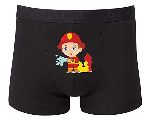 Boxershort - Feuerwehrmann Cartoon Schlauch Wasser - Unterhose für Herren und Männer
