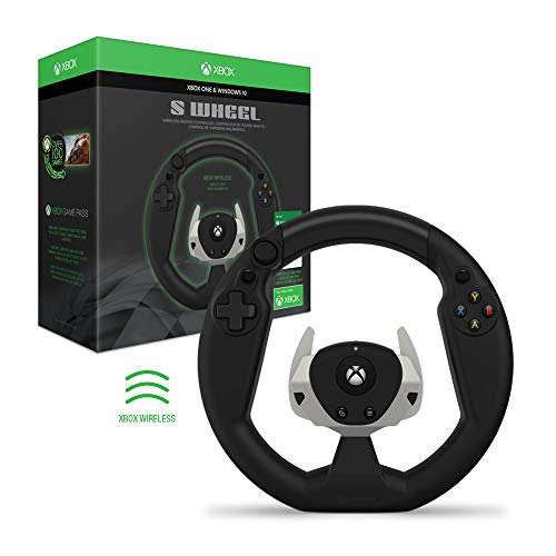 Hyperkin S Wheel Wireless Racing Controller (with Game Pass) for Xbox One - Officially Licensed By Xbox - Xbox One