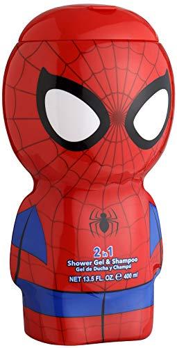 Spiderman Duschgel & Shampoo - 3D Figur mit tollem Duft, für Kinder und Erwachsene 400 ml