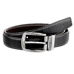 SNVOGUE Mens Faux Leather Reversible Belt
