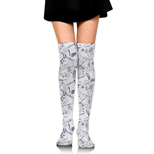 Wild Rose Women Girl Thigh High Socks Over The Knee High Warm Stocking Boot Long Socks