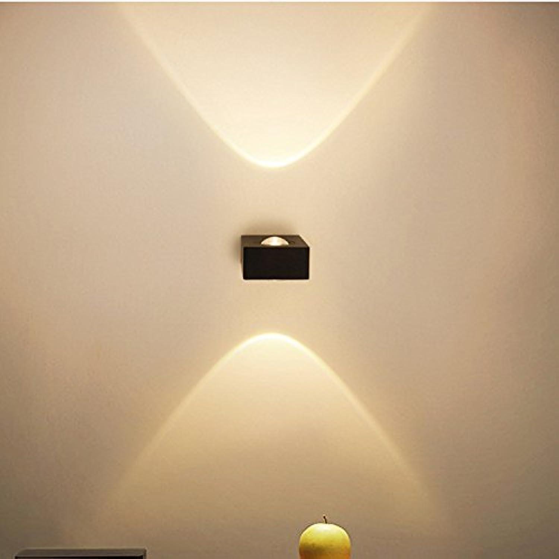 StiefelU LED Wandleuchte nach oben und unten Wandleuchten 2-seitige LED Wandleuchte sofa Wand Korridor Gang emitting KTV Snapshot Bild Leuchten Outdoor wasserdicht, Schwarz