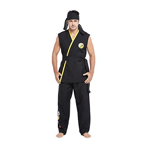 Herren Unüberwindlich Karate Kid Kampfsport Halloween Kostüm