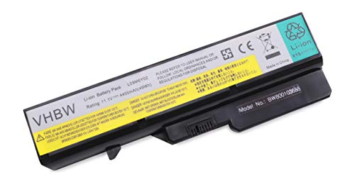 vhbw battery suitable for IBM/Lenovo IdeaPad V470, V470A, V470A-IFI, V470G, V470P, V570, V570A, V570G laptop (4400mAh, 11.1V, Li-Ion, black)