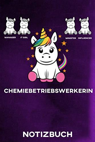 Chemiebetriebswerkerin Notizbuch: Geschenk | Journal | Tagebuch | blanko A5 Notizbuch liniert mit 110 Seiten | Geschenkidee | Softcover