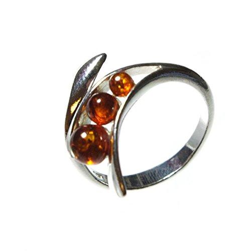 HolidayGiftShops - Sterling Silber 925 Baltischer Bernstein Ring