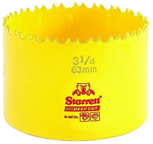 Starrett DCH083 Corona perforadora, Amarillo, 83 mm