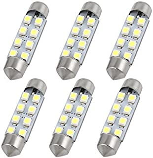 DealMux 6PCS 42 milímetros 8SMD 3528 Branco Festoon Mapa Interior Luz LED Dome Reading Blub para