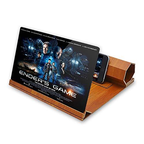 12Inch Phone-Bildschirm-Lupe 3D HD-Verstärker Vergrößern Faltbarer Standhalter Universal Mobiltelefonprojektor zum Ansehen von Film auf allen Smartphone Mobile Lupe-Bildschirm Tragbarer Telefonständer