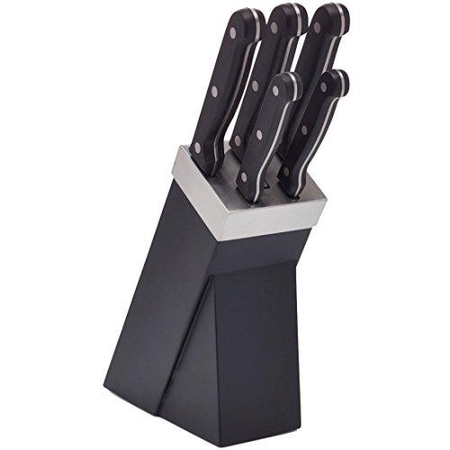 Kitchen Craft KCKNB15 Set de 5 Couteaux, Métal, Noir/Argent, 9 x 12 x 16 cm