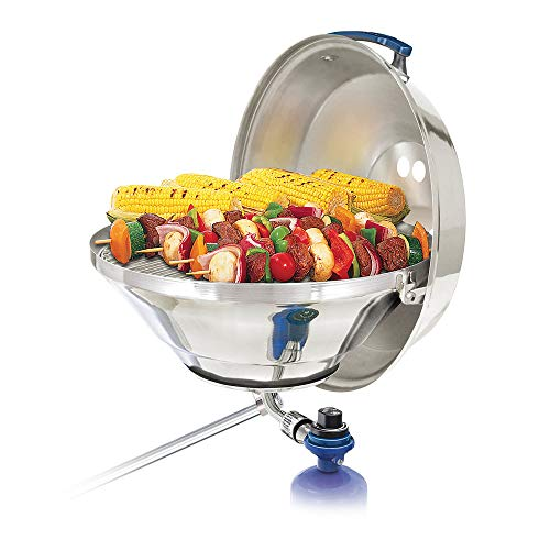 """Magma Marine Kettle 17"""" Party Size Gas Grill w/Hinged Lid Gas Grills Natural"""