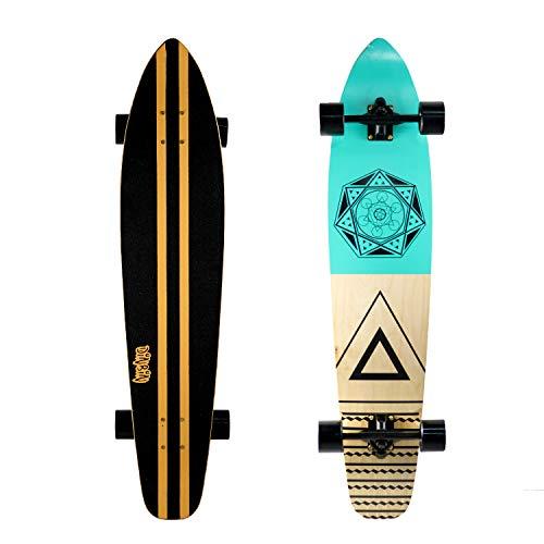 DINBIN 42 Inch Drop Through 8 Ply Maple Complete Longboards Skateboard,Cruising,Freeride...