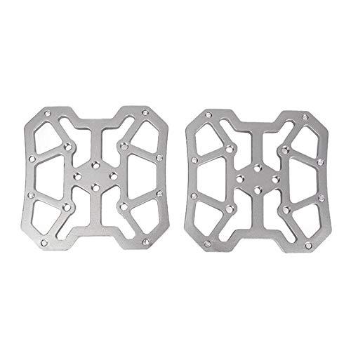 LLZY 2pcs aleación de Aluminio de Bicicletas Automáticos Pedal Plataforma adaptadores for KEO SPD Pedales MTB Mountain Road Accesorios de la Bici (Color : Plata)