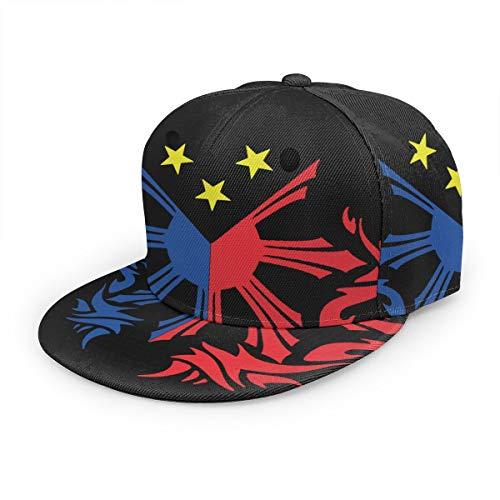 Filipino Flag Unisex 3D Printing Classic Baseball Cap Snapback Flat Bill Hip Hop Hats Black