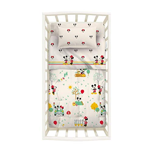 Caleffi Minnie & Mickey Trapunta Lettino Baby 110X130 Disney