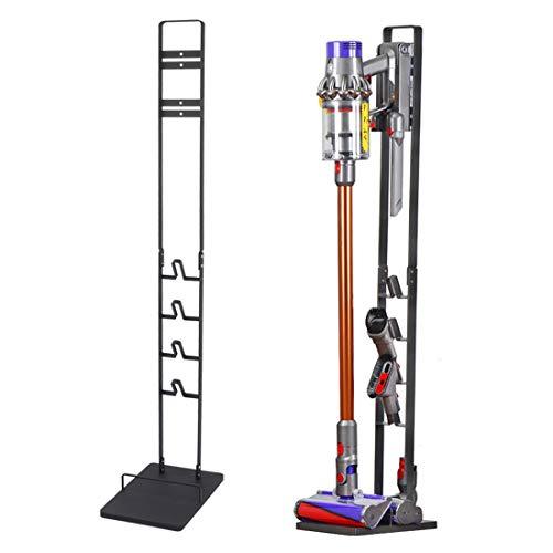 Vakuumständer, Vakuum-Zubehör Stabile Metall-Halterung Halter für Dyson Handheld V10 V8 V7 V6 schnurlose Staubsauger, Schwarz
