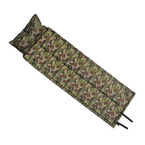 Materassino da campeggio, 2 in 1, gonfiabile, da campeggio, con cuscino, materassino singolo ultraleggero, materassino gonfiabile per campeggio, backpacking, campeggio, spiaggia