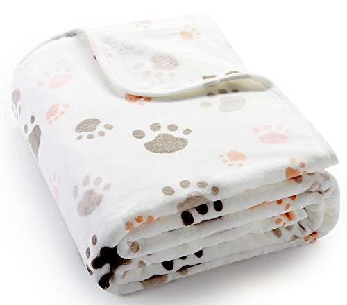 ALLISANDRO 350 GSM-Super Soft and Premium Fuzzy Fleece Pet Dog Blanket