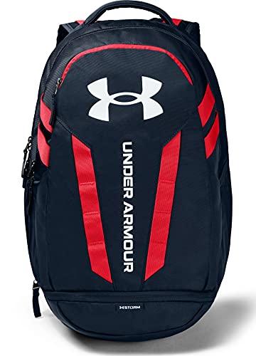 Under Armour Hustle 5.0 Rucksack für Erwachsene, Unisex-Erwachsene, Rucksack, Hustle Backpack, Academy Blue (409)/Weiß, Einheitsgröße