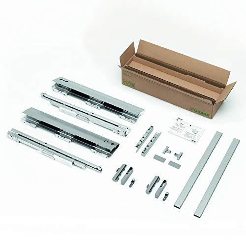 SOTECH DWD-XP Schubladensystem H95 / 40 kg/Nennlänge 450 mm/grau mit SoftClose Schubladenauszug Schublade Schubkastensystem