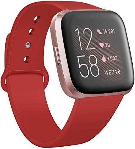 Shicancan - Pulsera para Fitbit Versa/Fitbit V Ersa Lite para mujeres y hombres, pulsera deportiva de silicona, pulsera de fitness, suave reemplazo para reloj inteligente Fitbit Versa, pulsera