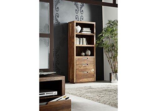 MASSIVMOEBEL24.DE Palisander Holz Möbel massiv lackiert Regal Sheesham Massivmöbel Holz massiv walnuss Duke #115