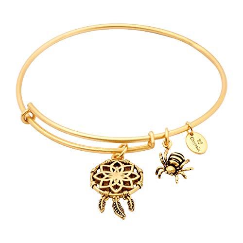 Charmed Traumfänger-Charm erweiterbar Armreif Armband, vergoldet