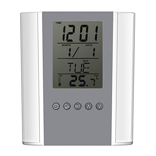 TAKE FANS Tenedor del Reloj Digital, Organizador del Caso del Tenedor del lápiz de la Tabla de la exhibición de la Temperatura del Despertador Digital