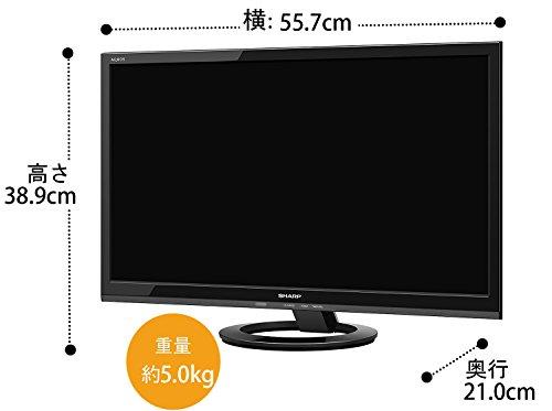 『シャープ 24V型 AQUOS ハイビジョン 液晶テレビ 外付HDD対応(裏番組録画) ブラック LC-24K30-B』の2枚目の画像
